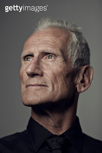 Handsome senior man photographed on studio - gettyimageskorea