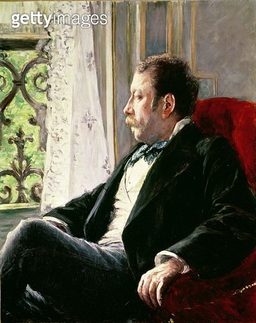 <b>Title</b> : Portrait of a Man, 1880 (oil on canvas)<br><b>Medium</b> : oil on canvas<br><b>Location</b> : Private Collection<br> - gettyimageskorea
