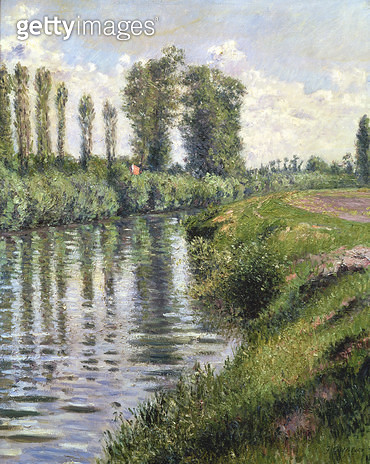 <b>Title</b> : Small Branch of the Seine at Argenteuil (oil on canvas)Additional InfoLe Petit Bras de la Seine;<br><b>Medium</b> : <br><b>Location</b> : Private Collection<br> - gettyimageskorea