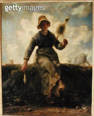 <b>Title</b> : The Spinner, Goatherd of the Auvergne, 1868-69 (oil on canvas)<br><b>Medium</b> : oil on canvas<br><b>Location</b> : Musee d'Orsay, Paris, France<br> - gettyimageskorea