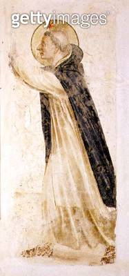 <b>Title</b> : St. Dominic, c.1430's (fresco)<br><b>Medium</b> : fresco<br><b>Location</b> : Museo di San Marco dell'Angelico, Florence, Italy<br> - gettyimageskorea