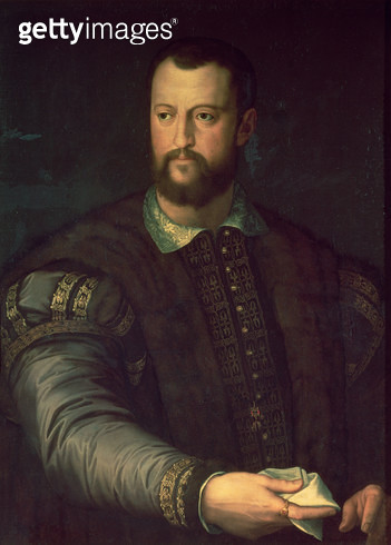<b>Title</b> : Portrait of Cosimo I de' Medici (1519-74) 1559 (oil on canvas)<br><b>Medium</b> : oil on canvas<br><b>Location</b> : Pushkin Museum, Moscow, Russia<br> - gettyimageskorea