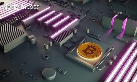 Bitcoin Concept On Motherboard - gettyimageskorea