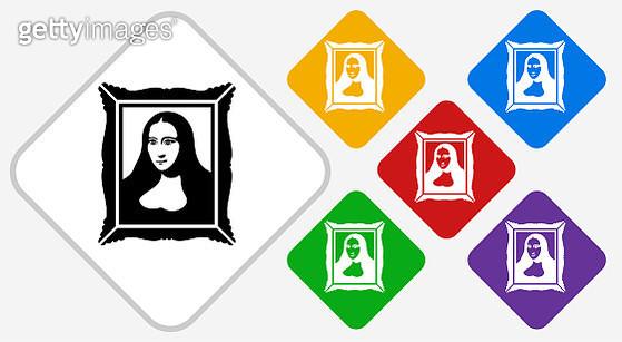 Portrait Color Diamond Vector Icon - gettyimageskorea