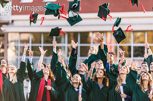 The graduation day is finally here! - gettyimageskorea