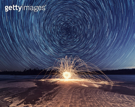 Spinning into the Night - gettyimageskorea