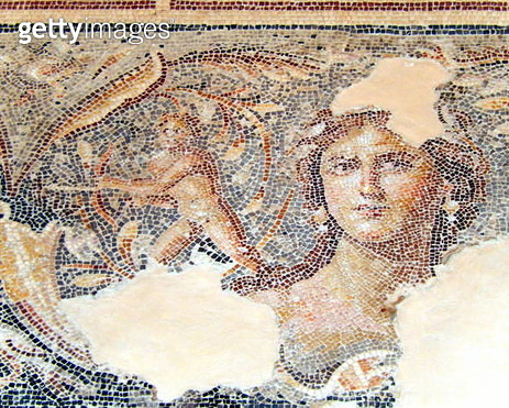 The Mona Lisa of the Galillee, a 2th century CE mosaics in Sepphoris National Park - gettyimageskorea