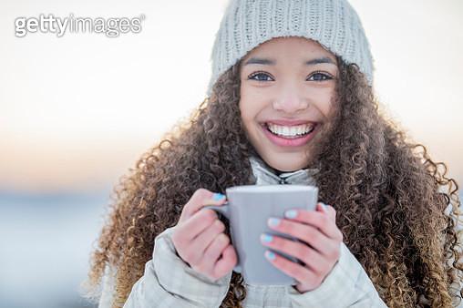 Enjoying a Hot Chocolate - gettyimageskorea