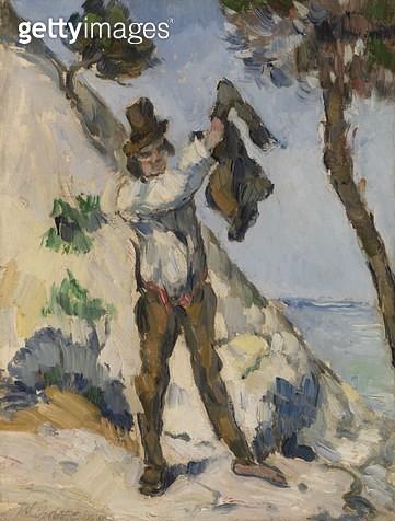 <b>Title</b> : Man Putting on a Coat (oil on canvas)<br><b>Medium</b> : oil on canvas<br><b>Location</b> : The Barnes Foundation, Merion, Pennsylvania, USA<br> - gettyimageskorea