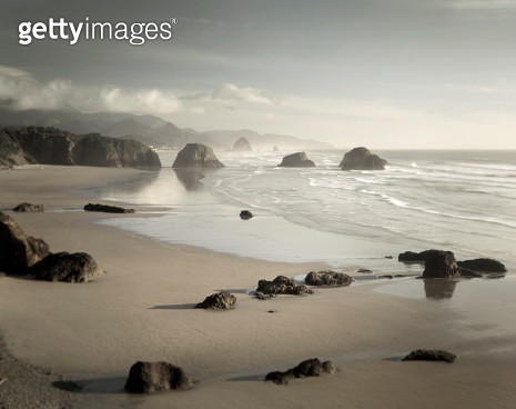 Crescent Beach Ecola State Park Oregon - gettyimageskorea