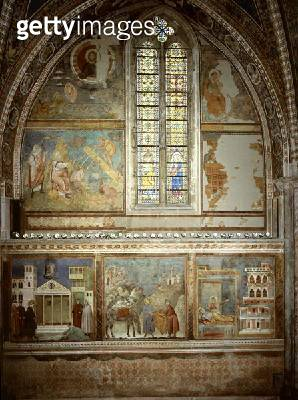 <b>Title</b> : Scenes from the Life of St. Francis: The Simple Man Honours St. Francis; St. Francis Gives his Coat to the Poor Knight; St Franc<br><b>Medium</b> : fresco<br><b>Location</b> : San Francesco, Upper Church, Assisi, Italy<br> - gettyimageskorea
