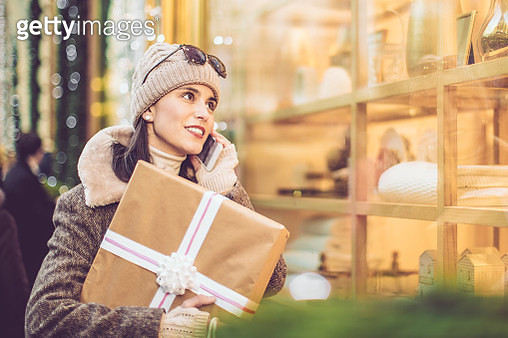 Beautiful woman shopping in the city - gettyimageskorea
