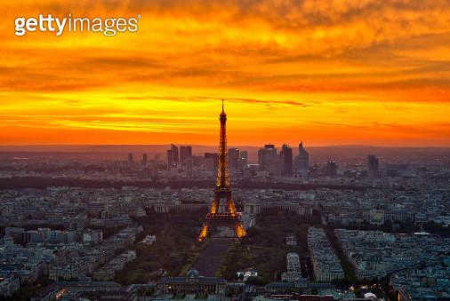 Sunset from Montparnasse - gettyimageskorea