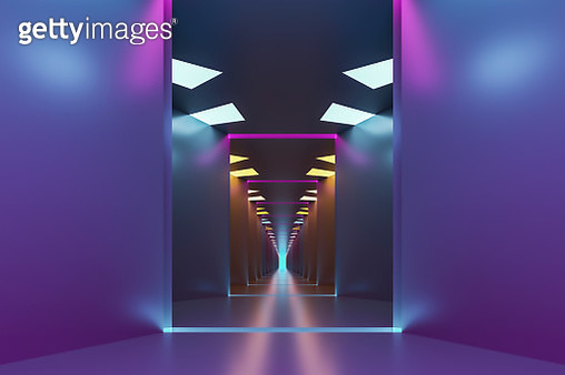 Empty futuristic corridor - gettyimageskorea