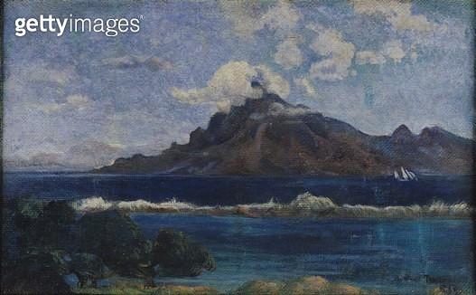 <b>Title</b> : Coastal Martinique Landscape, 1887 (oil on canvas)<br><b>Medium</b> : oil on canvas<br><b>Location</b> : Musee des Beaux-Arts Andre Malraux, Le Havre, France<br> - gettyimageskorea