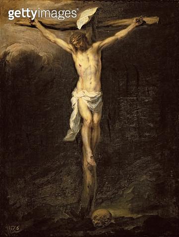 <b>Title</b> : Christ on the Cross, 1672 (oil on canvas)<br><b>Medium</b> : oil on canvas<br><b>Location</b> : Prado, Madrid, Spain<br> - gettyimageskorea