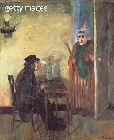 <b>Title</b> : The Scandalised Masks, 1883 (oil on canvas)<br><b>Medium</b> : oil on canvas<br><b>Location</b> : Musee d'Art Moderne, Brussels, Belgium<br> - gettyimageskorea