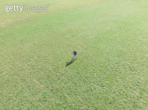 Photo is taken with camera attached to a flying drone - gettyimageskorea