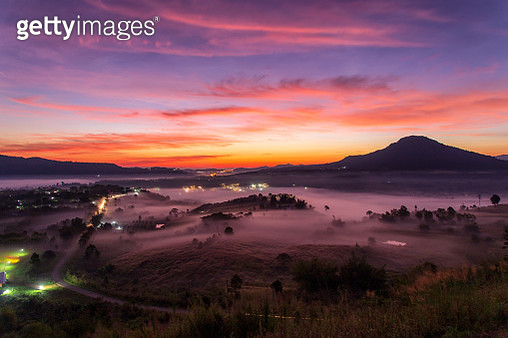 Top views landscape with the mist at Khao Ta Kean Ngo - gettyimageskorea