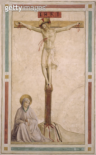<b>Title</b> : Crucifixion, from cell 22 (fresco)<br><b>Medium</b> : <br><b>Location</b> : Museo di San Marco dell'Angelico, Florence, Italy<br> - gettyimageskorea