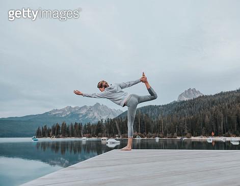 Young Woman Practising Yoga - gettyimageskorea