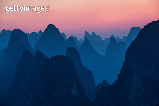 Guilin mountain line in the evening NO.3 - gettyimageskorea