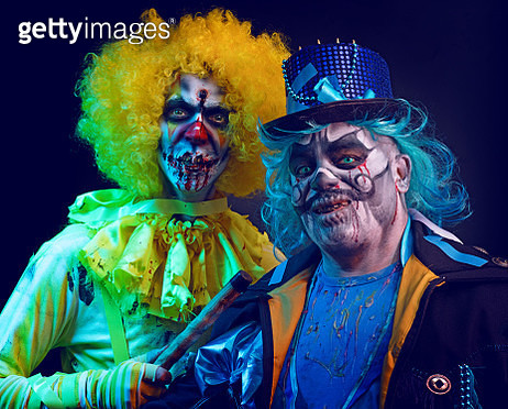 Halloween Clowns - gettyimageskorea
