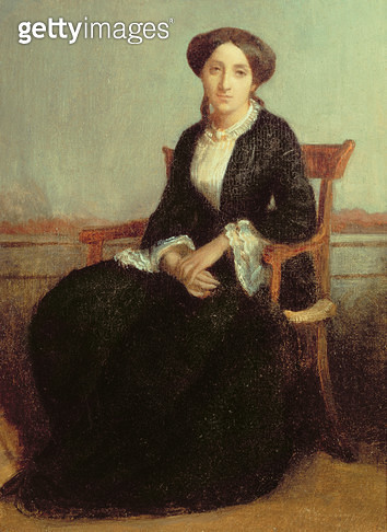 <b>Title</b> : Portrait of Genevieve Celine, 1850 (oil on canvas)Additional Infoeldest daughter of Adolphe Bouguereau, artist's uncle;<br><b>Medium</b> : oil on canvas<br><b>Location</b> : Private Collection<br> - gettyimageskorea
