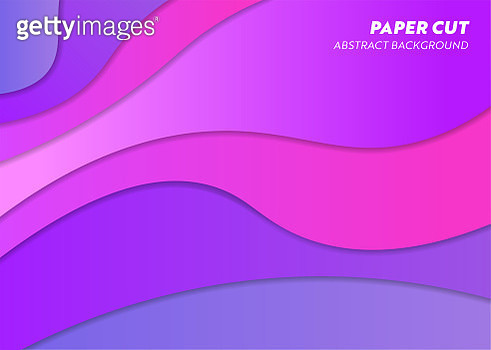 Paper Cut Abstract Background - gettyimageskorea