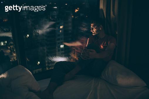 Relaxing by the window alone - gettyimageskorea