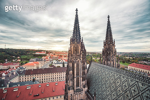 St. Virus Cathedral and Prague cityscape - gettyimageskorea