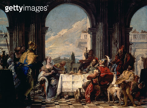<b>Title</b> : The Banquet of Anthony and Cleopatra, c.1744 (oil on canvas)<br><b>Medium</b> : <br><b>Location</b> : Musee Cognacq-Jay, Paris, France<br> - gettyimageskorea