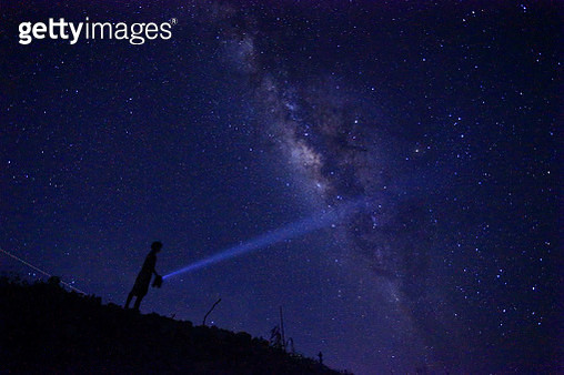 Milky Way.Camping holiday.Night landscape. - gettyimageskorea