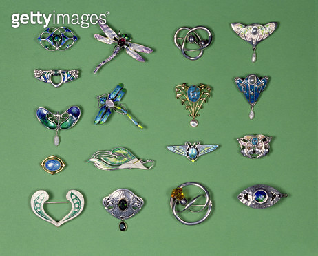 <b>Title</b> : A collection of silver, enamel and gold Art Nouveau and Arts and Crafts brooches, including designs by Charles Horner, Murrle Be<br><b>Medium</b> : <br><b>Location</b> : Private Collection<br> - gettyimageskorea