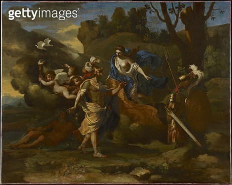 <b>Title</b> : Venus, Mother of Aeneas, Presenting him with Arms Forged by Vulcan, c.1635 (oil on canvas)<br><b>Medium</b> : oil on canvas<br><b>Location</b> : Art Gallery of Ontario, Toronto, Canada<br> - gettyimageskorea