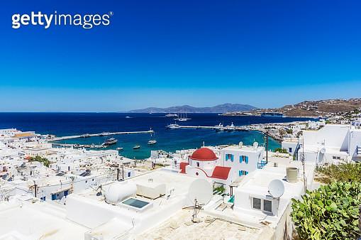 Greece, Mykonos, townscape - gettyimageskorea
