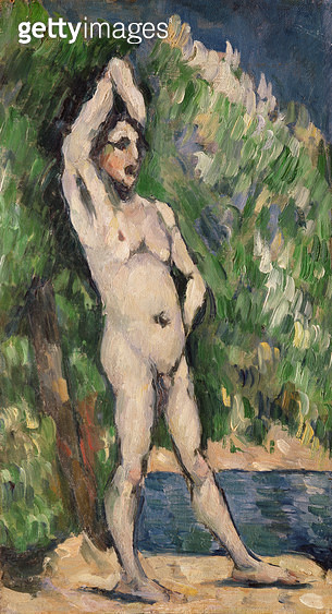 <b>Title</b> : Standing Nude, 1875-77 (oil on canvas)<br><b>Medium</b> : oil on canvas<br><b>Location</b> : Private Collection<br> - gettyimageskorea