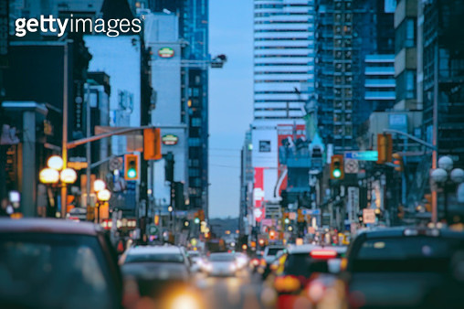 Busy Streets of Blurry Blue City - gettyimageskorea