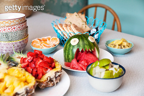 Various fruits on table - gettyimageskorea