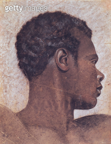 <b>Title</b> : Head of a Negro (w/c on paper)<br><b>Medium</b> : watercolour on paper<br><b>Location</b> : Musee des Beaux-Arts, Rouen, France<br> - gettyimageskorea