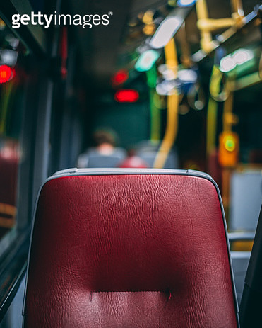 Close-Up Of Empty Seats In Bus - gettyimageskorea