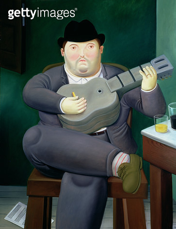 <b>Title</b> : The Guitarist, 1989 (oil on canvas)<br><b>Medium</b> : oil on canvas<br><b>Location</b> : Private Collection<br> - gettyimageskorea