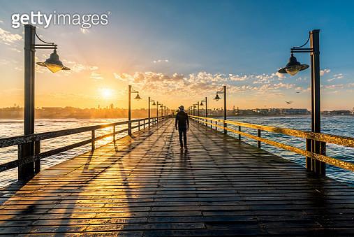 Swakopmund pier at sunrise - gettyimageskorea