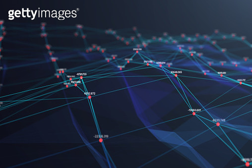 illustration of Wave Futuristic digital Abstract background for Science and technology,digital analytics concept - gettyimageskorea