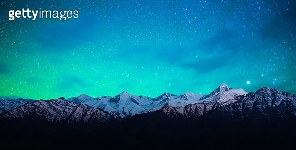 Starry night in Norther part of India - gettyimageskorea