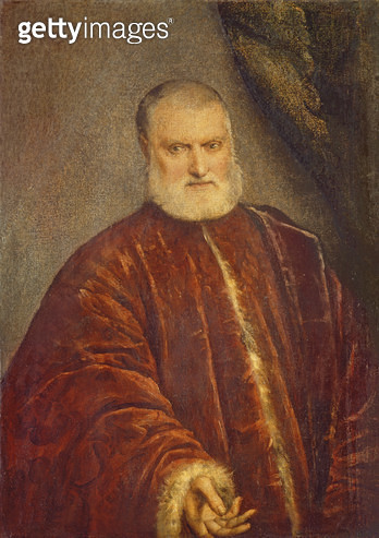 <b>Title</b> : Portrait of Antonio Cappello (oil on canvas)<br><b>Medium</b> : oil on canvas<br><b>Location</b> : Galleria dell' Accademia, Venice, Italy<br> - gettyimageskorea