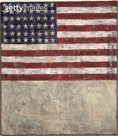 <b>Title</b> : Flag Above White, 1954 (encaustic on canvas)<br><b>Medium</b> : encaustic on canvas<br><b>Location</b> : Private Collection<br> - gettyimageskorea