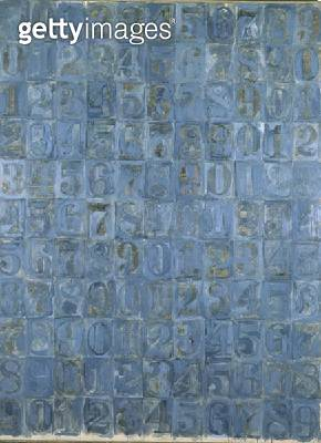 <b>Title</b> : Gray Numbers, 1958 (collage)<br><b>Medium</b> : <br><b>Location</b> : Private Collection<br> - gettyimageskorea