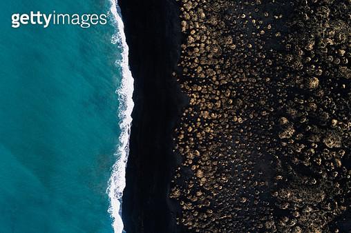 Black beach, Iceland - gettyimageskorea