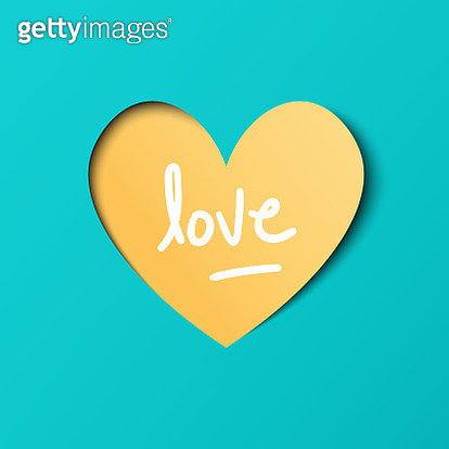 Heart shape paper art valentines day design - gettyimageskorea